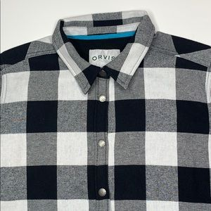 Orvis snap button long sleeve flannel